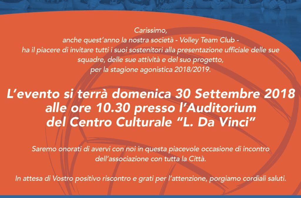 Presentazione Volley Team Club San Dona'