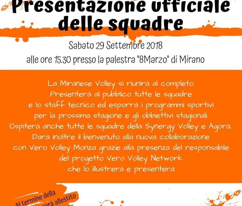 Presentazione Miranese Volley, Synergy Volley e Agorà Venezia