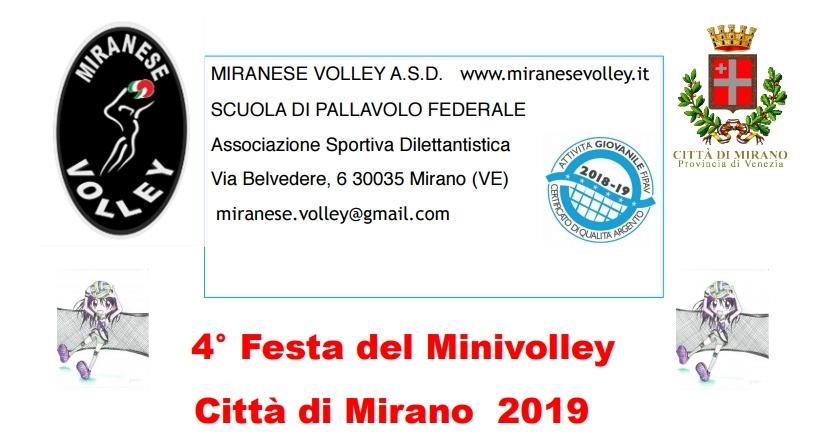 4° Festa del Minivolley – Città di Mirano 2019