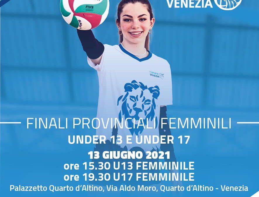 Finale Under 13 e Under 17 Femminile Nazionale
